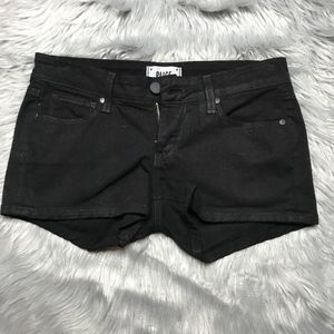 {PAIGE} Black Denim Jean Shorts